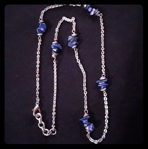 Lapis Lazuli Gemstone Chip Necklace